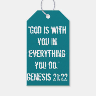 """God is with You"" Scripture Gift Tag Pack Of Gift Tags"