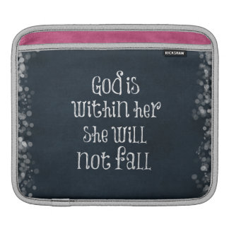 God is Within Her, She Will Not Fall Bible Verse iPad Sleeves