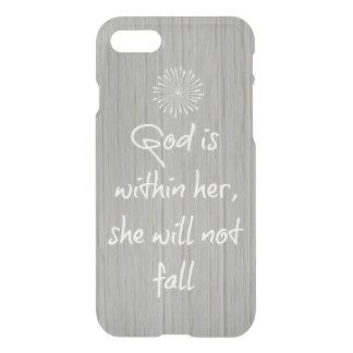God is Within Her, She Will Not Fall Bible Verse iPhone 8/7 Case