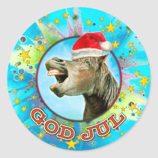 GOD JUL CLASSIC ROUND STICKER