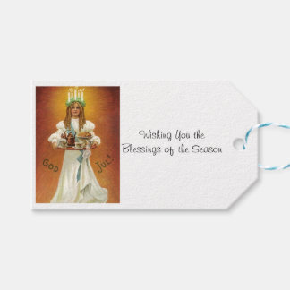 God Jul! Lucia with treats Gift Tags