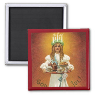 God Jul! Lucia with treats Magnet