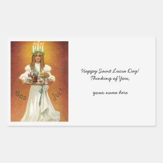 God Jul! Lucia with treats Sticker