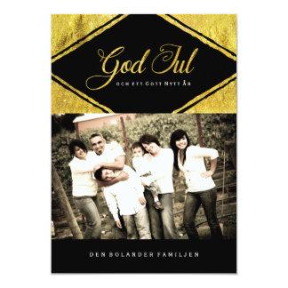 "God Jul Photo Cards 5"" X 7"" Invitation Card"