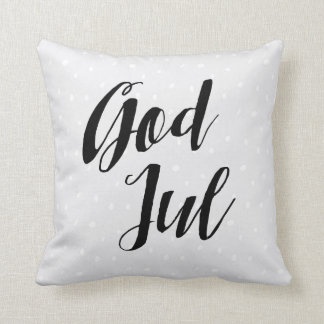 God Jul | Scandinavian Christmas Throw Pillow