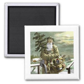 God Jul Swedish Santa Magnet