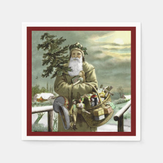 God Jul Swedish Santa Paper Napkin