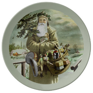 God Jul Swedish Santa Plate
