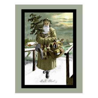 God Jul Swedish Santa Postcard