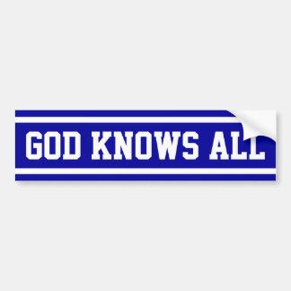 God Knows All Bumper Sticker