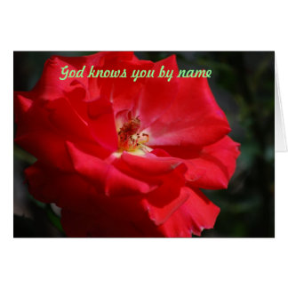 God knows you by name card