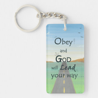 God lead the way - Redeemed by Love Keychain