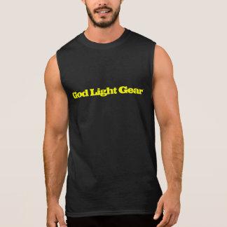 God Light Gear Yellow font muscle shirt