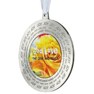 God Love Peace Pewter Ornament