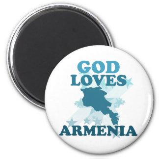 God Loves Armenia Magnet