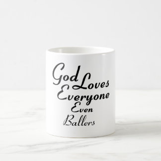 God Loves Ballers Coffee Mug