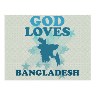 God Loves Bangladesh Postcard