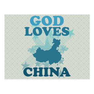 God Loves China Postcard