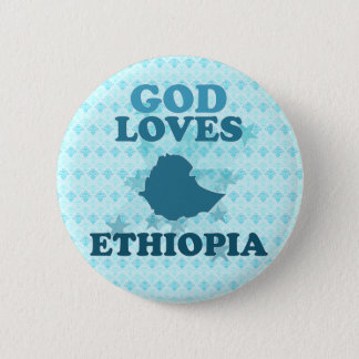 God Loves Ethiopia 2 Inch Round Button