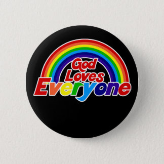 God Loves Everyone Gay Rainbow 2 Inch Round Button