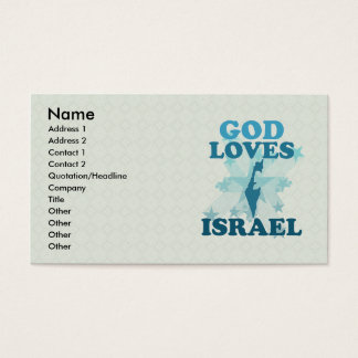 God Loves Israel Business Card
