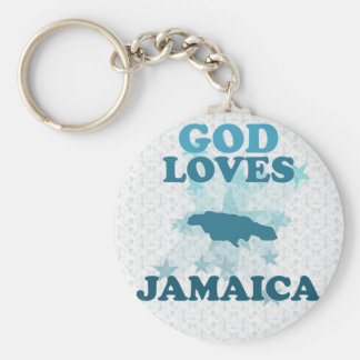 God Loves Jamaica Keychain