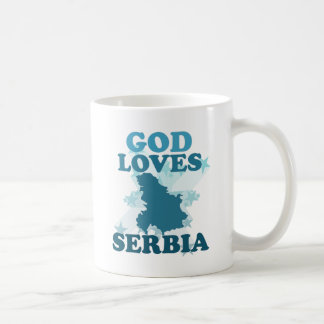 God Loves Serbia Coffee Mug