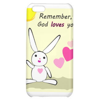 God loves you hearts and bunny Christian gift Case For iPhone 5C