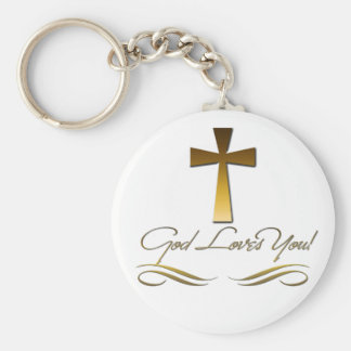 God Loves You Keychains