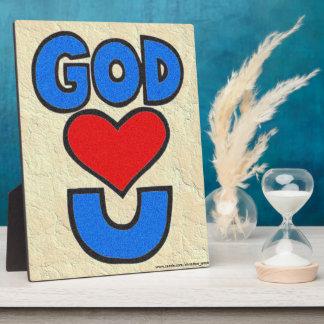 God Loves You Plaque
