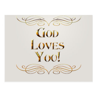 God loves You Postcard