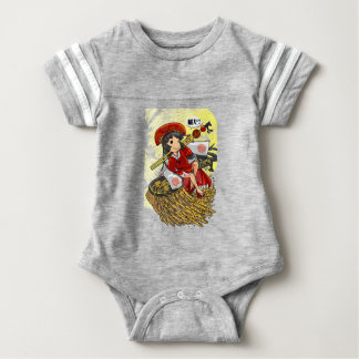 God lowering! Miyako way English story Omiya Baby Bodysuit