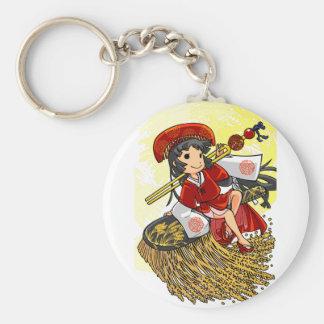 God lowering! Miyako way English story Omiya Basic Round Button Keychain