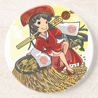 God lowering! Miyako way English story Omiya Beverage Coaster
