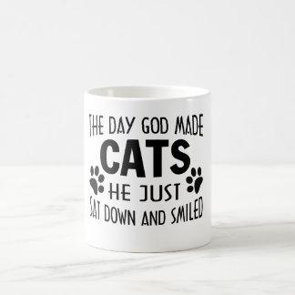 GOD MADE CATS COFFEE MUG