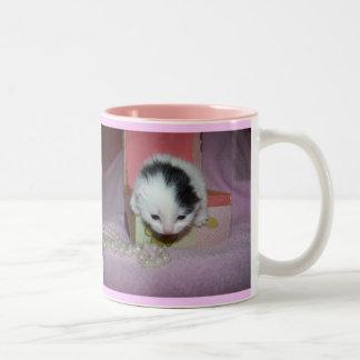 God made kittens xtra sweet! Two-Tone coffee mug