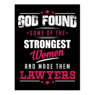 God Made Lawyers Hilarious Profession Design Postcard