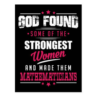 God Made Mathematicians Hilarious Profession Dsgn Postcard