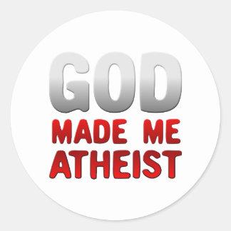God Made Me Atheist Round Sticker