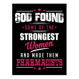 God Made Pharmacists Hilarious Profession Design Postcard