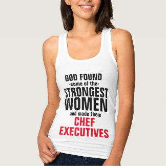 God made some of the Chef Executives Jersey Racerback Tank Top