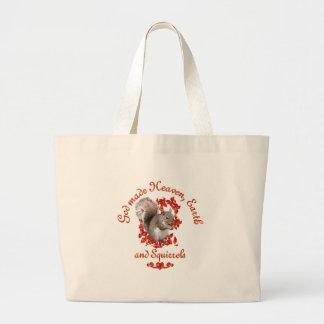 God Made Squirrels Large Tote Bag