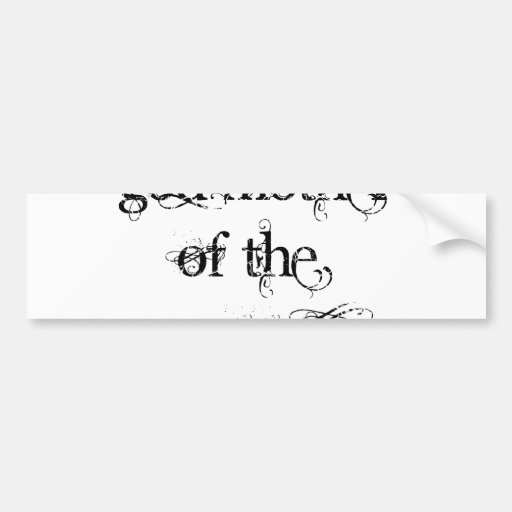 God Mother of the Groom Bumper Sticker