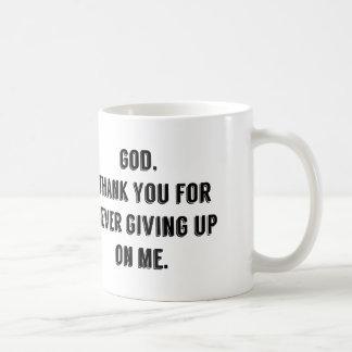 God Never Gives Up On Me Mugs