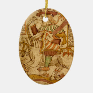 God Odin on his Eight-legged Horse Sleipnir - 3NBG Ceramic Ornament