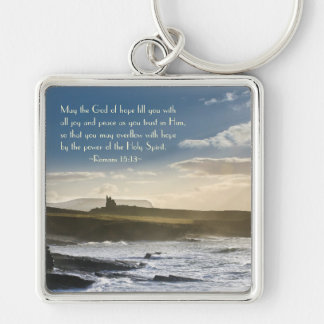 God of Hope, Romans 15:13 Bible Verse, Irish Coast Keychain