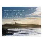 God of Hope, Romans 15:13 Bible Verse, Irish Coast Postcard