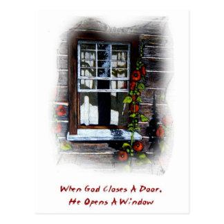 God Opens A Window: Upper Canada Village, Art Postcard