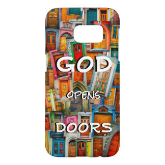 God Opens Doors Colorful Unique Samsung Galaxy S7 Case
