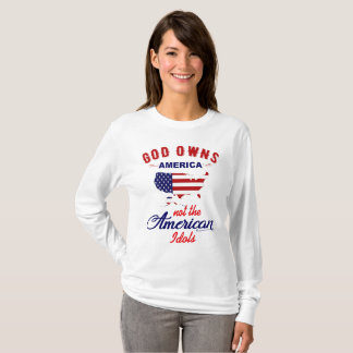 GOD OWNS AMERICA -Christian Women's LongSleeve Tee